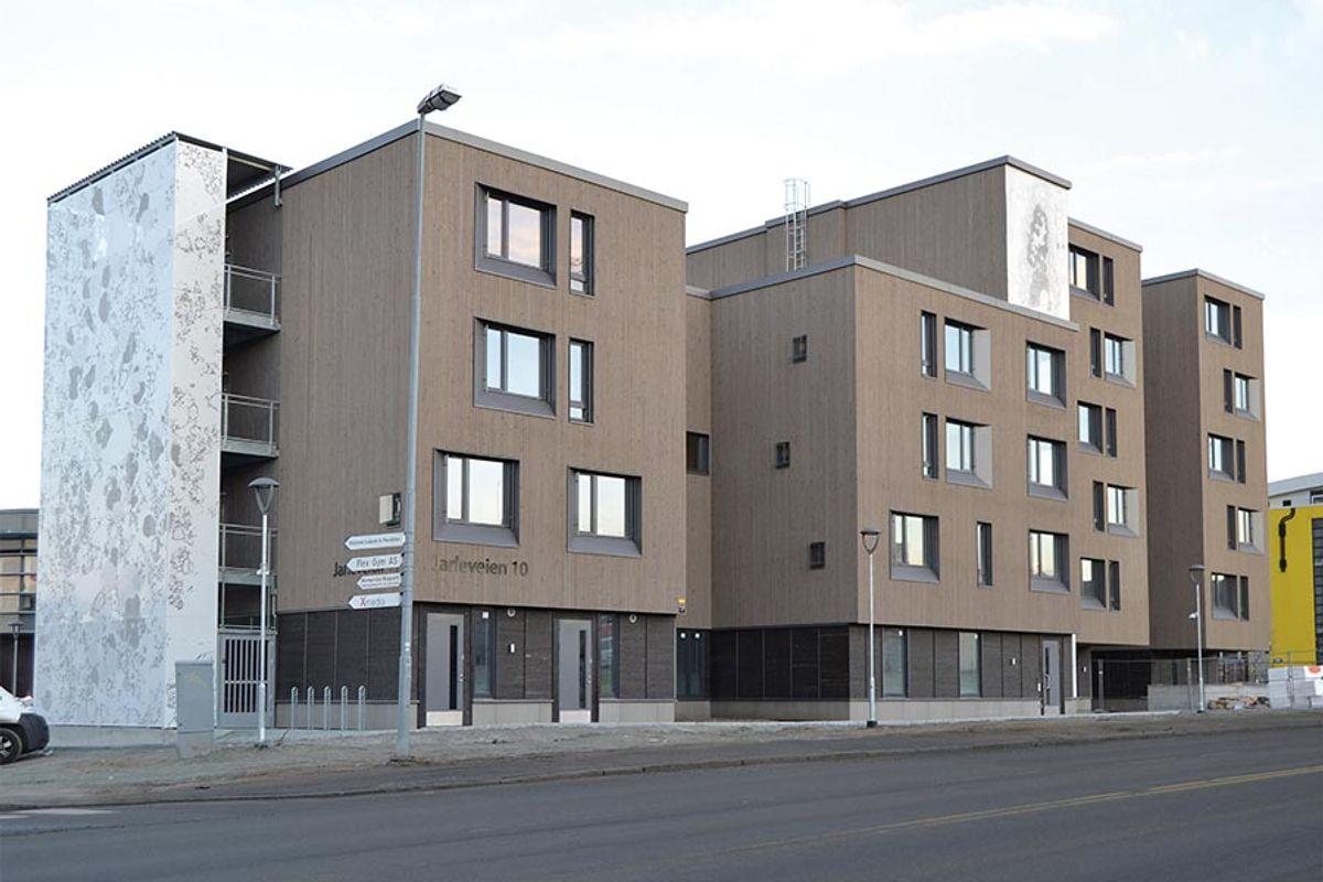 Fasade Jarleveien 10 (bilde brukt med tillatelse fra Byggindustri)