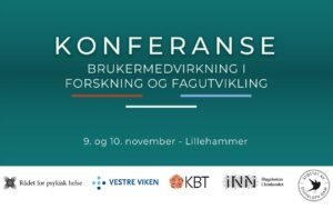 Tekstplakat med link - Konferansen brukermedvirkning i forskning og fagutvikling