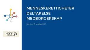 Tekstplakat: menneskerettigheter, deltakelse, medorgerskap